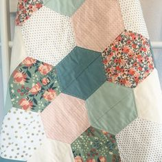Custom Crib Quilt Hexagon Quilt by morgankelly on Etsy