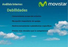 DAFO Movistar. Análisis interno: Debilidades.