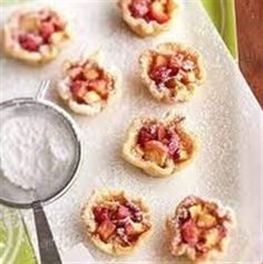 Apple, Onion and Goat Cheese Tartlets