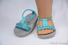 American Girl or 18 inch doll SANDALS SHOES by LorelieCreations