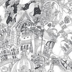 Graham & Brown Black Lizzies Doodle wallpaper- at Debenhams.com