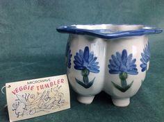 Louisville Stoneware Hand Painted Mircowavable Veggie Tumbler Beautiful #LouisvilleStoneware