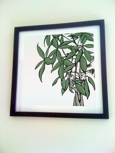 Color poster print money tree by Sketchariffic on Etsy, $20.00