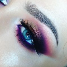 "1,047 Likes, 6 Comments - Soroka Iryna (@sorokairyna) on Instagram: ""Burgundy Gold Purple Perfect color combination for blue eyes #mua #makeup #blueeyes…"""
