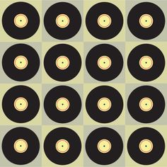 Retro Vinyl fabric by ravynka on Spoonflower - custom fabric