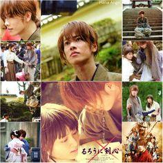 Takeru Satoh as Kenshin Himura. Emi Takei as Kaoru… Saitama, Samurai, Emi Takei, Dramas, X Movies, Korean Shows, Takeru Sato, Six Month, Rurouni Kenshin