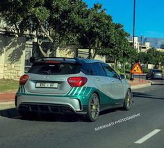 One of the AMG World Champion Editions in SA was spotted by recently! Love the styling on this thing. Mercedes A45 Amg, Amg Petronas, Exotic Cars, South Africa, Champion, World, Instagram Posts, Photography, Photograph