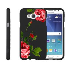 Galaxy J7 Case SNAP SHELL 2 Piece Rubberized Hard Cover Plastic - Affectionate Flowers
