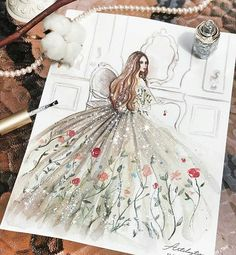 "632 Likes, 3 Comments - Fashion Art and Sketches (@best.fashion.art) on Instagram: ""Regram @artclaytion . . . . . . #fashionillustrations #aquarelle #aquarellepainting #draws…"""