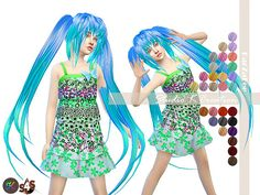 Animate hair 58 SARINA kids at Studio K-Creation via Sims 4 Updates