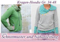 Kragenhoodie ebook Schnitt+Anleitung von selbermacher auf DaWanda.com