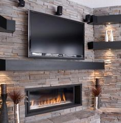 Contemporary Living Room Tv Above Fireplace Design Pictures Remodel Decor