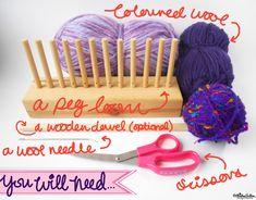 Peg Loom Weaving Tutorial – Part One at www.elistonbutton.com - Eliston Button - That Crafty Kid