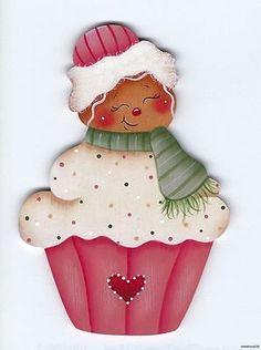 HP GINGERBREAD Cupcake FRIDGE MAGNET