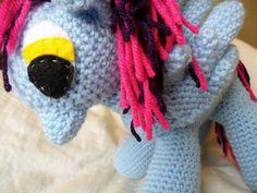 Made-to-Order - Cupcake - Unicorn Pegasus Pony Amigurumi Plushie - Perfect Birthday or Baby Shower Gift