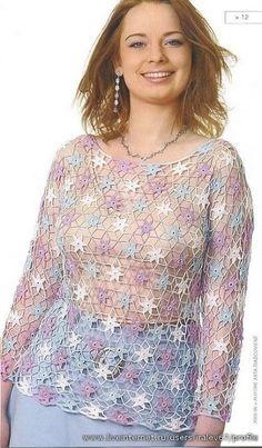 Star cover-up.  Gisa Presentes: blusas