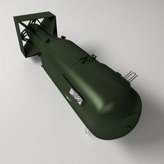 3D Model Atomic Bomb c4d, obj, 3ds, fbx, ma, lwo 78706