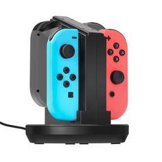Charging Dock Cradle Station Cargador Para Nintendo Switch 4 Joy-Con Controlador