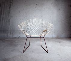 Bertoia Diamond Chair.  Bon~Looks like the ones we saw at the antique place.
