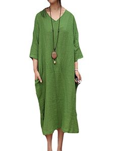 Minibee Women's Side Split V Neck Long Pocket Dress Green Minibee http://www.amazon.com/dp/B013AT6ZQU/ref=cm_sw_r_pi_dp_6CcWvb1SBBAME