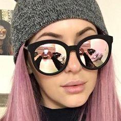 e7d2d30c5ccdf Óculos Espalhado Feminino All Galaxy. Oculos De Sol RedondoMulheres De LuxoTendencias  Verao 2017OlhosÓculos FemininosRoupas TumblrColaresOuro RosaBiquinis
