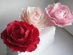 Peony flowers, so much fun to make