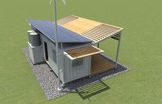 Shipping Container Design for Disaster Relief - Tiny House Living Cargo Container Homes, Shipping Container Home Designs, Container Shop, Storage Container Homes, Building A Container Home, Container House Plans, Container House Design, Shipping Containers, Container Architecture