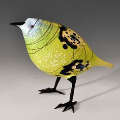 Abstract Asian Finch - by glassmaker Shane Fero (via Pismo Fine Art Glass)