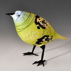 Abstract Asian Finch - by glassmaker Shane Fero (via Pismo Fine Art Glass)
