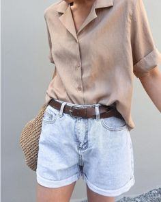 Remarkable Casual Outfits You Need to The officer This Weekend. Get influenced with one of these. casual outfits for teens Korean Outfits, Short Outfits, Trendy Outfits, Fashion Outfits, Fashion Ideas, Korean Outfit Summer, Ladies Fashion, Nude Outfits, Korean Fashion Summer