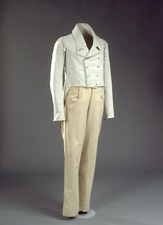 1820s man's summer attire Denmark