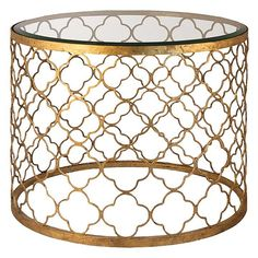 Gold Leaf Side Table. Gorg!