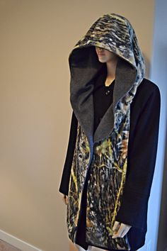 Oversized Hooded Camo Scarf  Reversible Unisex Fleece Hoodie Scarf Scoodie by ChevronScarf