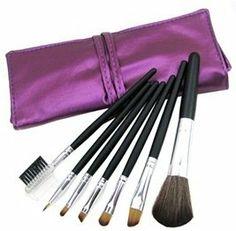 Make-up Brush Set by sabuy2u. $15.00. 1 x Nylon fiber finishing powder brush. 1 x special synthetic fiber eyebrow brush ,1 x Special synthetic fiber lip brush. Brand: Finding Color. 2 x Special synthetic fiber eye shadow brushes. 1 x Sponge eye shadow stick ,1 x Eyebrow comb brush. Package Details Weight: 32.10 g  Size: 18*3*3 cm Package Includes * 7 × Brushes
