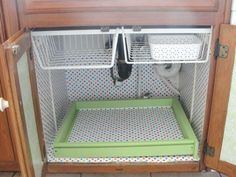 """""""Under the Sink"""" Makeover-- the shelf put at the top to hold the two slip-on  hanging bins"""