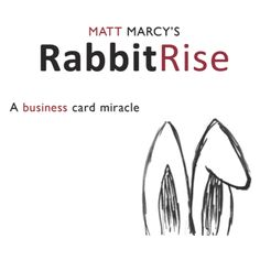 RabbitRise by Matt Marcy - You pull out a stack of your business cards, wrapped in a rubber band. Offering to perform your version of the classic 'Rabbit from a Hat,' you show a simple sketched top hat drawn on the back of your cards. A spectator initials the bottom card in the stack to ensure it is not switched get it here: http://www.wizardhq.com/servlet/the-13506/rabbitrise-by-matt-marcy/Detail?source=pintrest