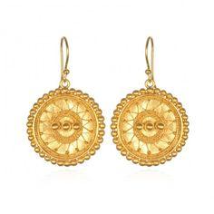 Satya Access to Infinity Gold Mandala Earrings Jewelry Gifts, Jewelery, Daisy London, Gold Earrings, Drop Earrings, Infinity Earrings, Gold Medallion, Semi Precious Gemstones, Modern Jewelry