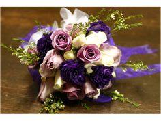 Ramo de novia de flores moradas