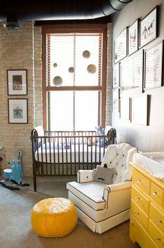 S globe-trotting, industrial nursery baby room развешив Baby Boy Rooms, Baby Boy Nurseries, Kids Rooms, Baby Bedroom, Baby Bedding, Industrial Nursery, Modern Industrial, Industrial Industry, Industrial Design