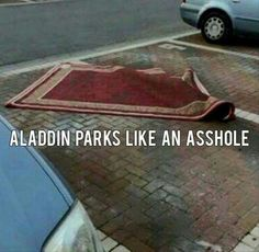 Aladdin you asshole! Who does that? It's just rude. Jeez Aladdin.