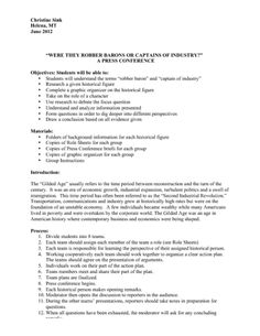 Robber Barons or Captains of Industry Lesson Presentation Packet Us History, American History, Gilded Age, Teaching History, Industrial Revolution, He Is Able, Lesson Plans, Presentation, Classroom