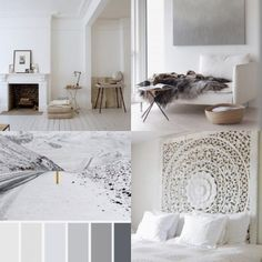 De 7 grootste fouten bij het kiezen van de juiste kleur verf voor je interieur | Fotografie via Pinterest via www.stijlidee.nl Natural Interior, Home Organisation, Home Living Room, My House, Interior Decorating, Tapestry, Black And White, Bedroom, Inspiration
