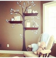Super Cute DIY Wall Paint Idea. For a little girls room