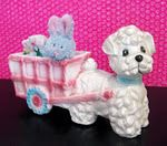 dog cart planter or candy dish