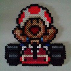 Toad Mario Kart hama beads by anypekexa