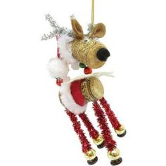 Brighten the Season Florida Bealls Cork Deer With Santa Hat Christmas Decorations, Christmas Ornaments, Holiday Decor, Wine Cork Ornaments, Coastal Wreath, Shell Wreath, Sign Display, Stocking Holders, Coastal Christmas