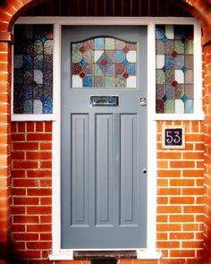 Reclaimed doors by Historic Doors Upvc Front Door, Wooden Front Doors, Traditional Front Doors, House With Porch, 1930s Doors, Entrance Doors, Entry Doors, Historic Doors, Doors