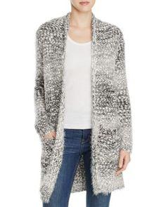 B Collection by Bobeau Harper Eyelash Knit Cardigan Women - Bloomingdale s 60876613f3d
