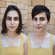Short Hair Cuts, Short Hair Styles, Pixie Cuts, Before After Hair, About Hair, Positivity, Hairstyles, Unique, Fashion
