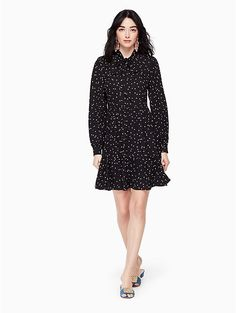 scatter dot shirtdress | Kate Spade New York